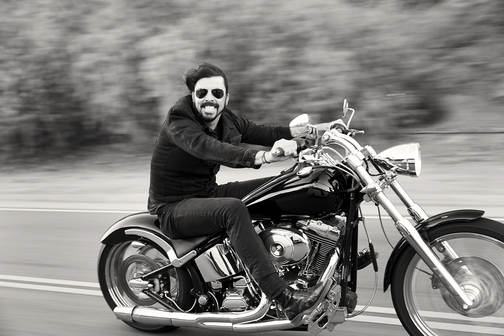 Dave Grohl Rolling Stone Motorcycle